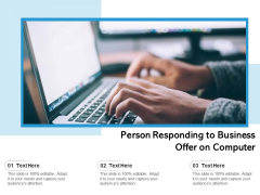 Person Responding To Business Offer On Computer Ppt PowerPoint Presentation Gallery Samples PDF