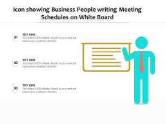Person Showing Business Meeting Schedule Vector Icon Ppt PowerPoint Presentation Infographics Master Slide PDF