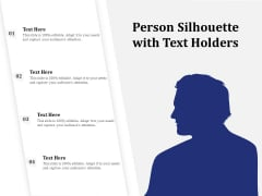 Person Silhouette With Text Holders Ppt PowerPoint Presentation File Samples PDF