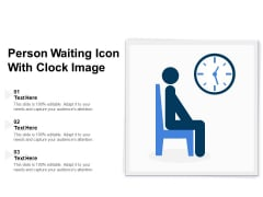 Person Waiting Icon With Clock Image Ppt PowerPoint Presentation Styles Skills PDF