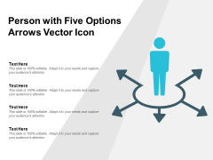 Person With Five Options Arrows Vector Icon Ppt PowerPoint Presentation File Layouts