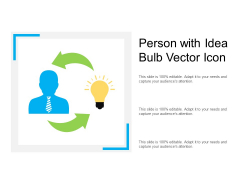 Person With Idea Bulb Vector Icon Ppt PowerPoint Presentation Pictures Portrait PDF