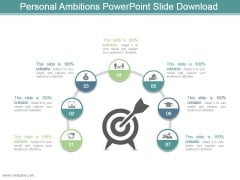 Personal Ambitions Powerpoint Slide Download