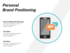 Personal Brand Positioning Ppt PowerPoint Presentation Model Design Inspiration Cpb