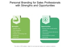 Personal Branding For Sales Professionals With Strengths And Opportunities Ppt PowerPoint Presentation File Influencers PDF