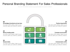 Personal Branding Statement For Sales Professionals Ppt PowerPoint Presentation Infographics Influencers PDF