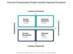 personal characteristics flexible versatile organized disciplined ppt powerpoint presentation icon tips