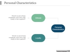 Personal Characteristics Ppt PowerPoint Presentation Visual Aids