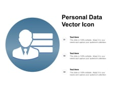 Personal Data Vector Icon Ppt PowerPoint Presentation Styles Guidelines