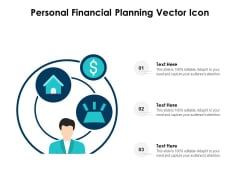 Personal Financial Planning Vector Icon Ppt PowerPoint Presentation Summary Elements PDF
