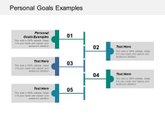 Personal Goals Examples Ppt PowerPoint Presentation Pictures Smartart Cpb