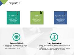 Personal Goals Long Term Goals Ppt PowerPoint Presentation Slides Maker