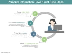 Personal Information Powerpoint Slide Ideas