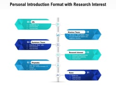 Personal Introduction Format With Research Interest Ppt PowerPoint Presentation File Display PDF
