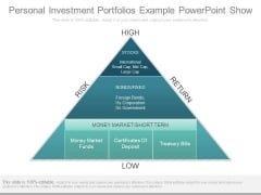 Personal Investment Portfolios Example Powerpoint Show