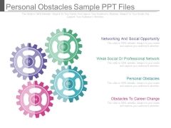 Personal Obstacles Sample Ppt Files