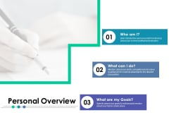 Personal Overview Ppt PowerPoint Presentation Outline Ideas