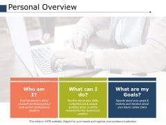 Personal Overview Ppt PowerPoint Presentation Styles Grid