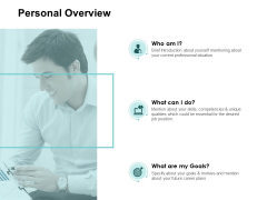 Personal Overview Technology Ppt PowerPoint Presentation Layouts Samples
