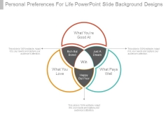 Personal Preferences For Life Powerpoint Slide Background Designs