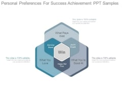 Personal Preferences For Success Achievement Ppt Samples
