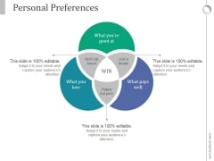 Personal Preferences Ppt PowerPoint Presentation Information
