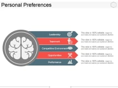 Personal Preferences Template 1 Ppt PowerPoint Presentation Styles Structure