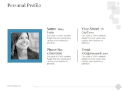 Personal Profile Ppt PowerPoint Presentation Gallery