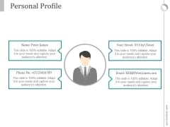 Personal Profile Ppt PowerPoint Presentation Introduction