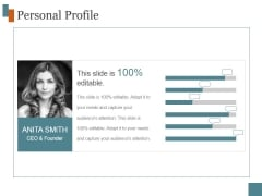 Personal Profile Ppt PowerPoint Presentation Show