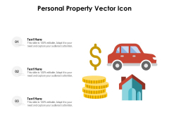Personal Property Vector Icon Ppt PowerPoint Presentation Professional Deck PDF
