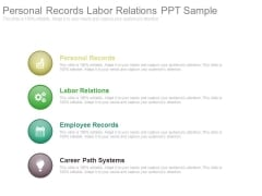 Personal Records Labor Relations Ppt Sample