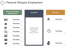 Personal Shopper Employment Ppt PowerPoint Presentation Model Elements
