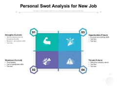 Personal Swot Analysis For New Job Ppt PowerPoint Presentation Ideas Example PDF