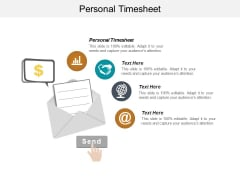 Personal Timesheet Ppt PowerPoint Presentation Professional Deck Cpb