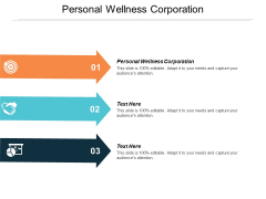 Personal Wellness Corporation Ppt PowerPoint Presentation Slides Background Image Cpb