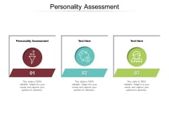 Personality Assessment Ppt PowerPoint Presentation Gallery Graphic Images Cpb Pdf