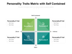 Personality Traits Matrix With Self Contained Ppt PowerPoint Presentation Slides Background Designs PDF