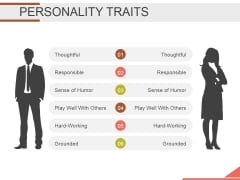 Personality Traits Ppt PowerPoint Presentation Slides