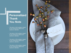 Personalized Thank You Note Ppt Powerpoint Presentation Pictures Layout Ideas
