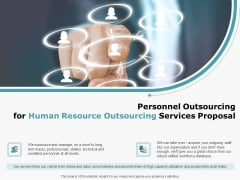 Personnel Outsourcing For Human Resource Outsourcing Services Proposal Professional PDF
