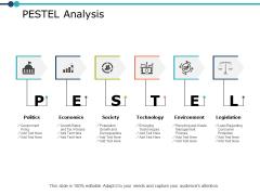 Pestel Analysis Marketing Ppt PowerPoint Presentation Icon Topics
