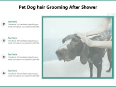 Pet Dog Hair Grooming After Shower Ppt PowerPoint Presentation Icon Gallery PDF