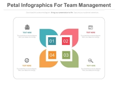 Petal Infographics For Value Chain Analysis Powerpoint Template