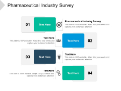 Pharmaceutical Industry Survey Ppt PowerPoint Presentation Summary Objects Cpb Pdf