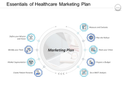 Pharmaceutical Management Essentials Of Healthcare Marketing Plan Ppt Infographics Example PDF