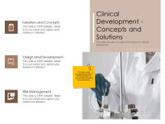 Pharmaceutical Marketing Strategies Clinical Development Concepts And Solutions Pictures PDF