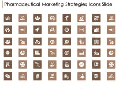 Pharmaceutical Marketing Strategies Icons Slide Designs PDF