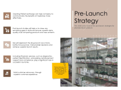 Pharmaceutical Marketing Strategies Pre Launch Strategy Slides PDF