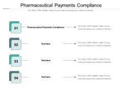 Pharmaceutical Payments Compliance Ppt PowerPoint Presentation Summary Gridlines Cpb Pdf